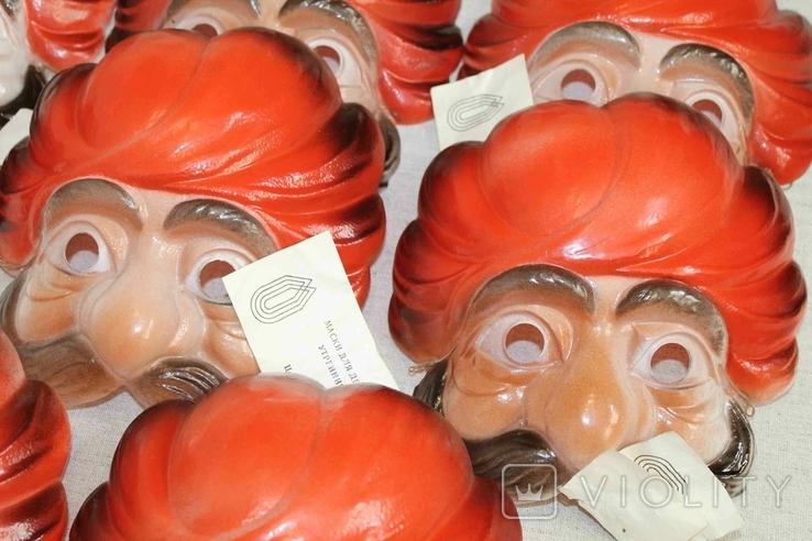 Маски для детских утренников СССР с бирками 8 шт, фото №6