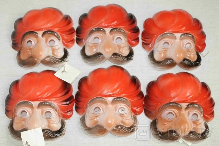 Маски для детских утренников СССР с бирками 8 шт, фото №12