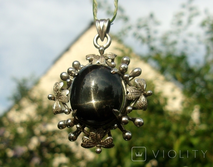 Кулон серебро астеризм., фото №3