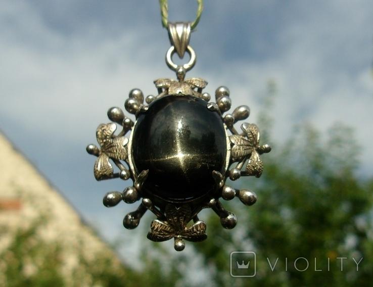 Кулон серебро астеризм., фото №2