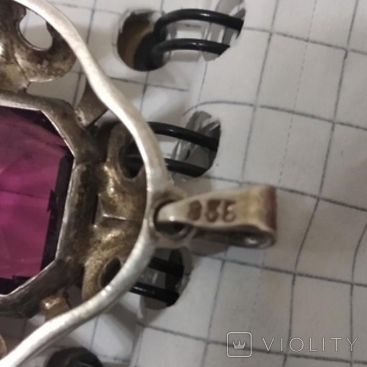 Подвеска серебро 835, фото №5