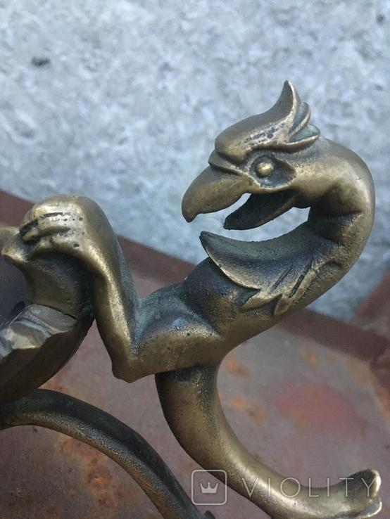 Пепельница лепесток дракон, фото №5