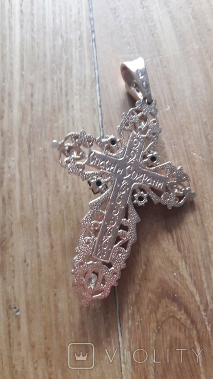 Крест.золото 585пр. вес 14.22гр, фото №7