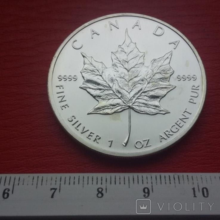 5 Канада 2007 г Кленовый лист, фото №2