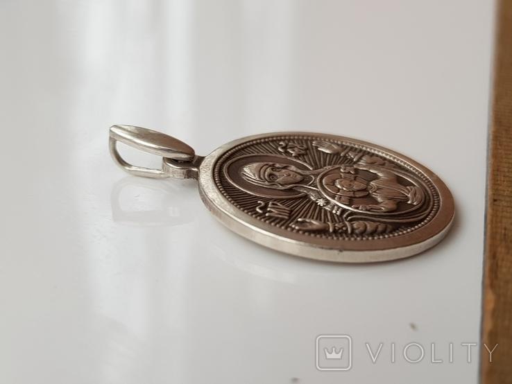 Серебряная ладанка 925, фото №4