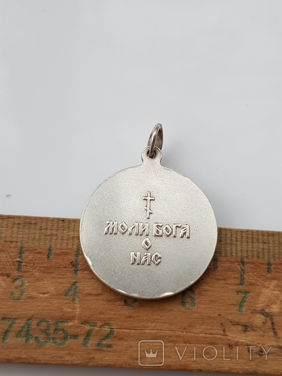 Серебряная ладанка 925, фото №5
