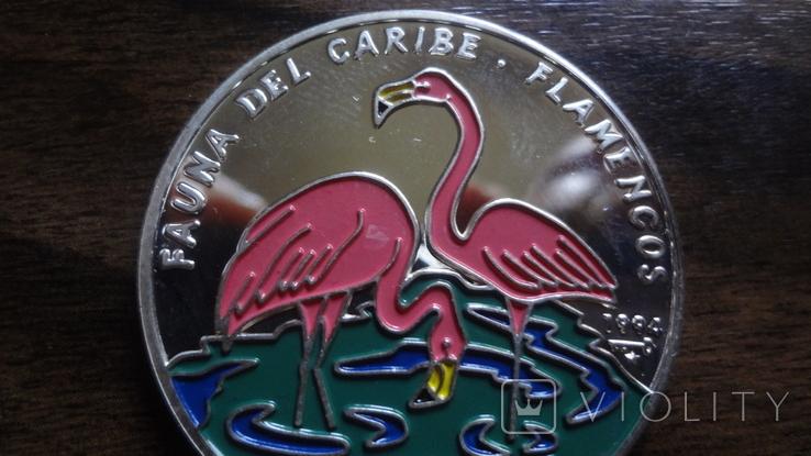 10 песо 1994 Куба Фламинго серебро (Л.5.12), фото №2