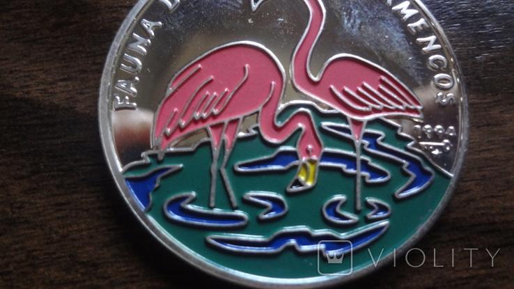 10 песо 1994 Куба Фламинго серебро (Л.5.12), фото №3