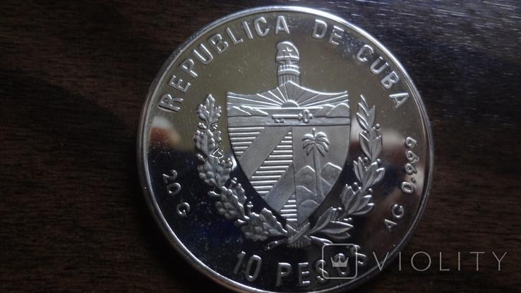 10 песо 1994 Куба Фламинго серебро (Л.5.12), фото №4