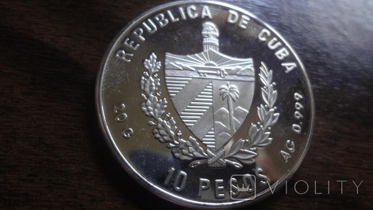 10 песо 1994 Куба Фламинго серебро (Л.5.12), фото №5