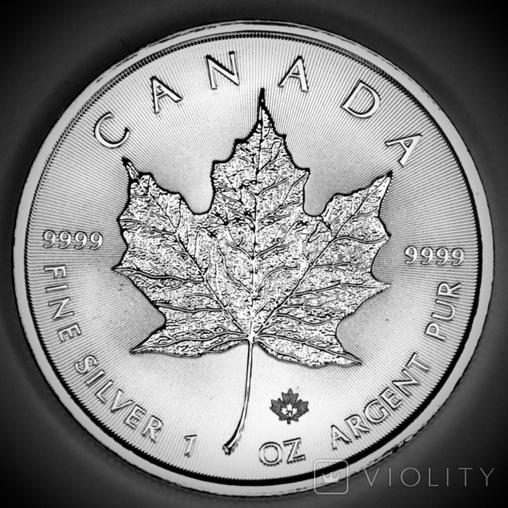 5 долларов. 2021. Кленовый лист. Канада (серебро 9999, вес 31,1 г), фото №10