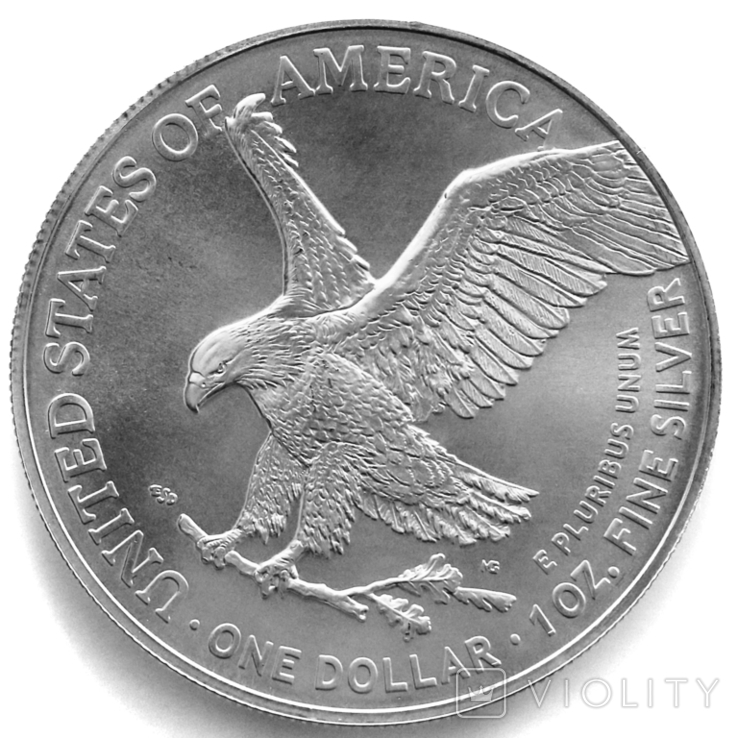 1 доллар. 2021. Американский орел. США (серебро 999, вес 31,1 г), фото №5