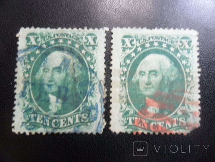 Классика США. 1857 г. Дж. Вашингтон. Каталог- 704 дол. США, фото №3