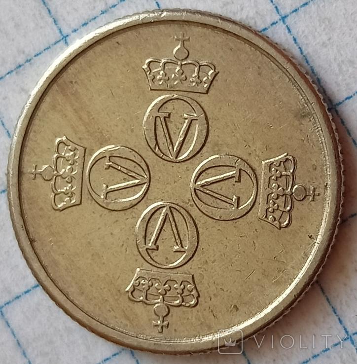 Норвегия 25 оре 1977, фото №3