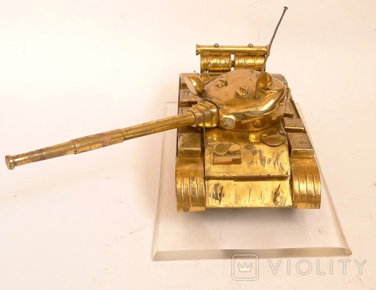 Танк Т-64 ? Латунь. Ручная работа . СССР., фото №6