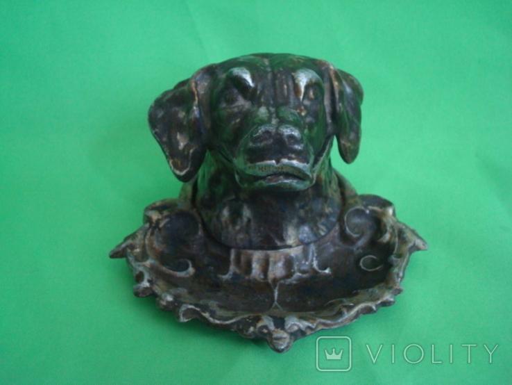 Пепельница Собака металл, фото №2