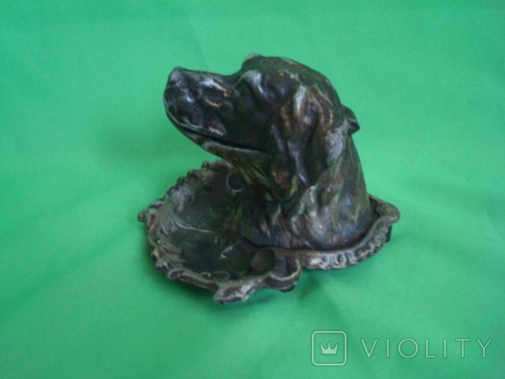 Пепельница Собака металл, фото №6