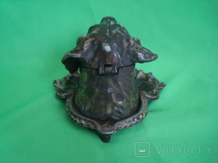 Пепельница Собака металл, фото №7