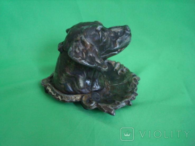 Пепельница Собака металл, фото №8