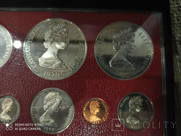 Набор монет Каймановые острова 1979. Пруф. Серебро. 8 монет, фото №4