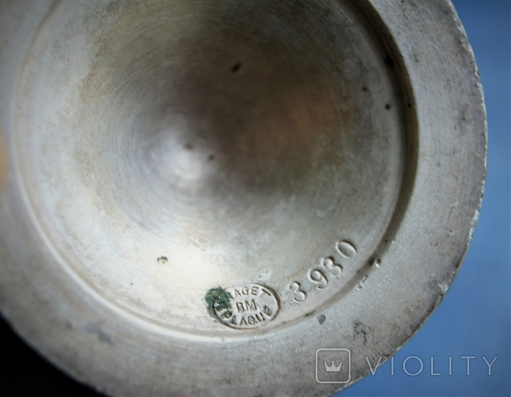 Десертные креманки клейма FRAGET, толстое серебрение накладкой 40мкм, фото №8