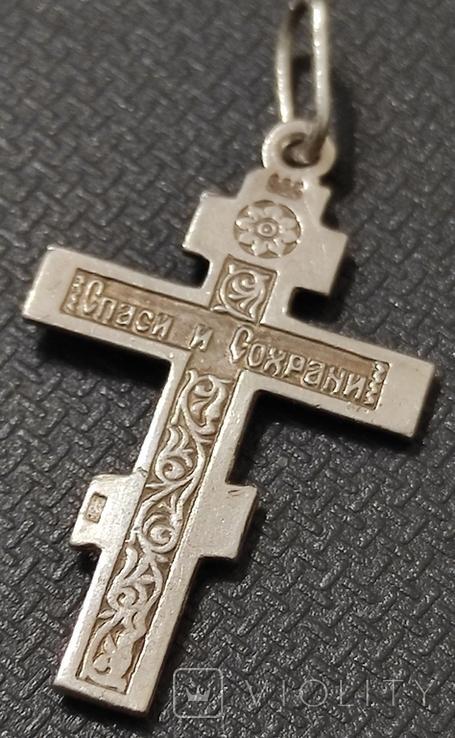 Крест серебро 925*, фото №4
