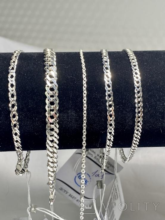 Серебряные браслеты 5 штук, фото №2