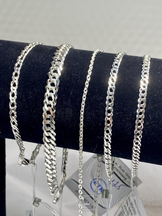 Серебряные браслеты 5 штук, фото №4