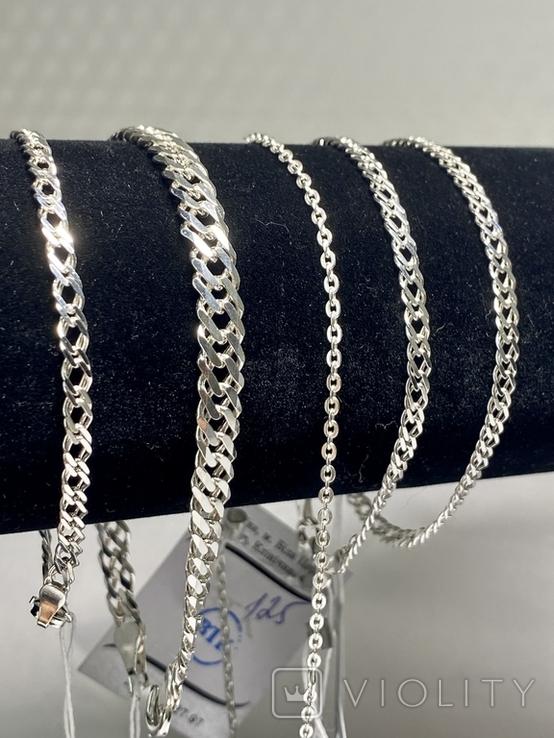 Серебряные браслеты 5 штук, фото №11