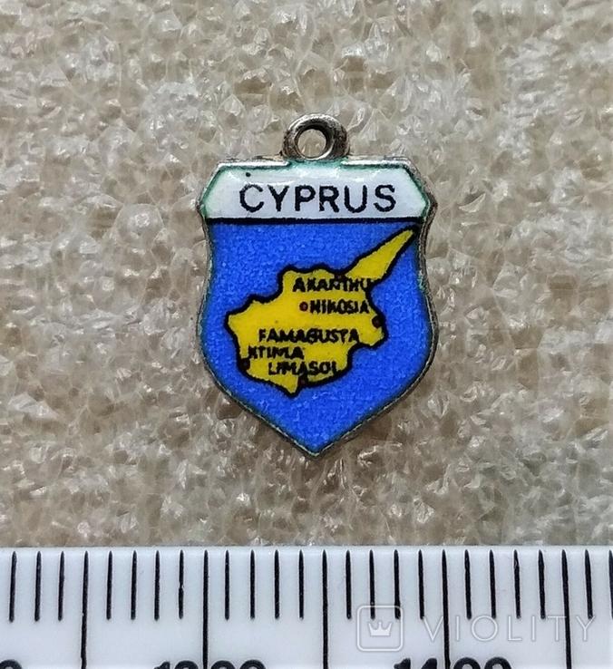Подвеска Щиток Путещественика Кипр Серебро 800, фото №2