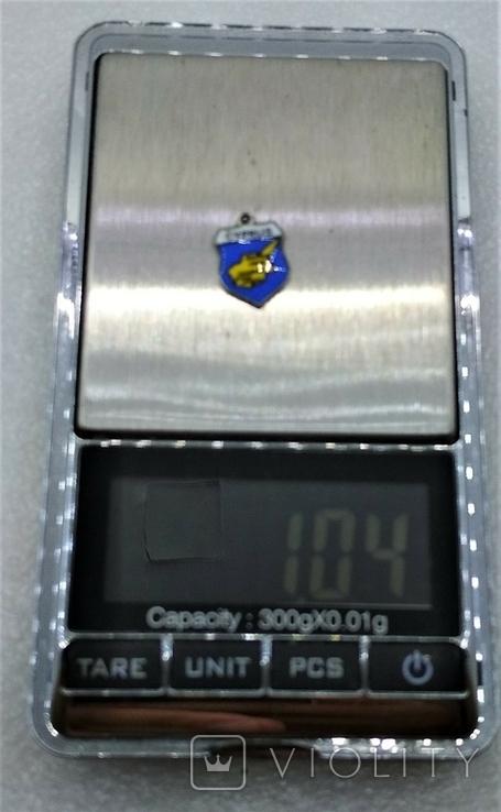Подвеска Щиток Путещественика Кипр Серебро 800, фото №4