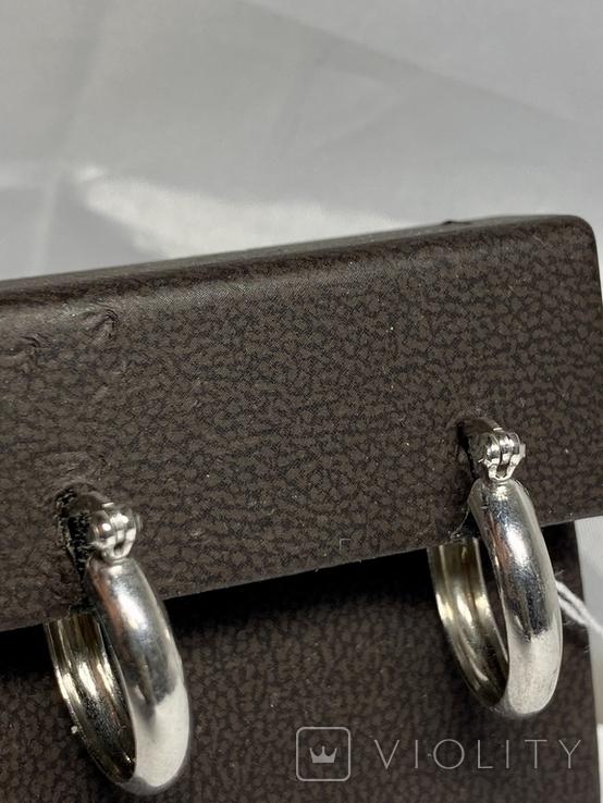 Серебряные серьги 6 штук, фото №3