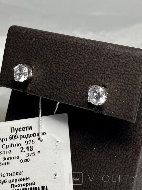 Серебряные серьги 6 штук, фото №4