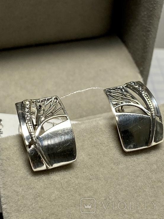 Серебряные серьги 6 штук, фото №6