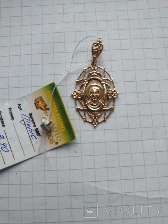 Подвеска кулон Исус, золото 585, новое, фото №5