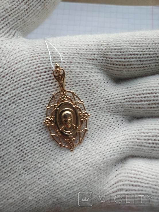 Подвеска кулон Исус, золото 585, новое, фото №7