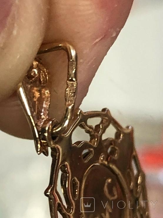 Подвеска кулон Исус, золото 585, новое, фото №10