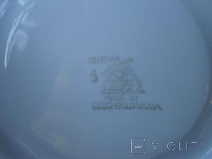 """Столовый набор фарфор """"Bohemia"""" Made in Czechoslovakia - 11 предметов, фото №11"""