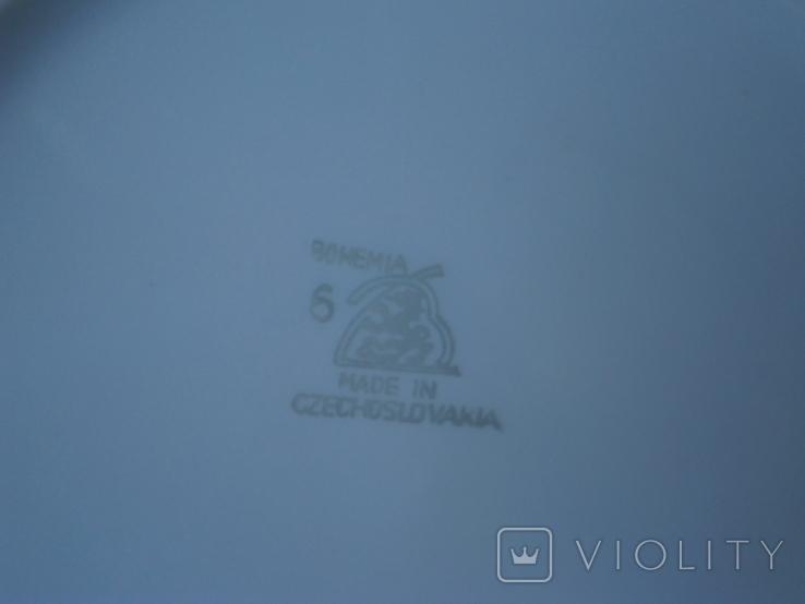 """Столовый набор фарфор """"Bohemia"""" Made in Czechoslovakia - 11 предметов, фото №13"""