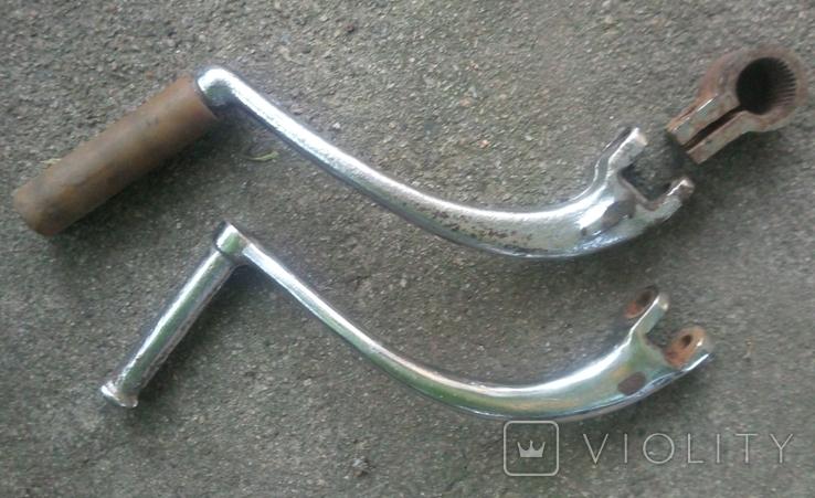 Заводные ножки ИЖ -2 штуки +крепление, фото №2