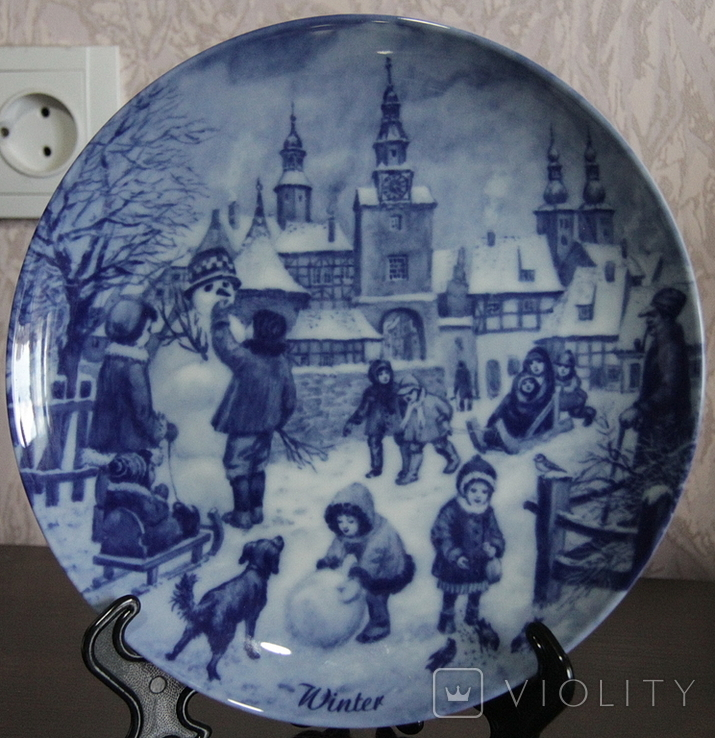"Набор декоративных тарелок ""Времена года"" Berlin Design 1977 год, фото №8"