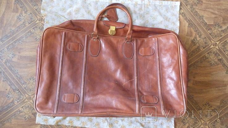 Чемодан.дорожная сумка Principe.made in Italy.кожа, фото №2