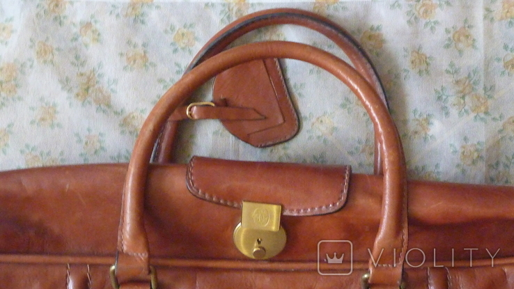Чемодан.дорожная сумка Principe.made in Italy.кожа, фото №5