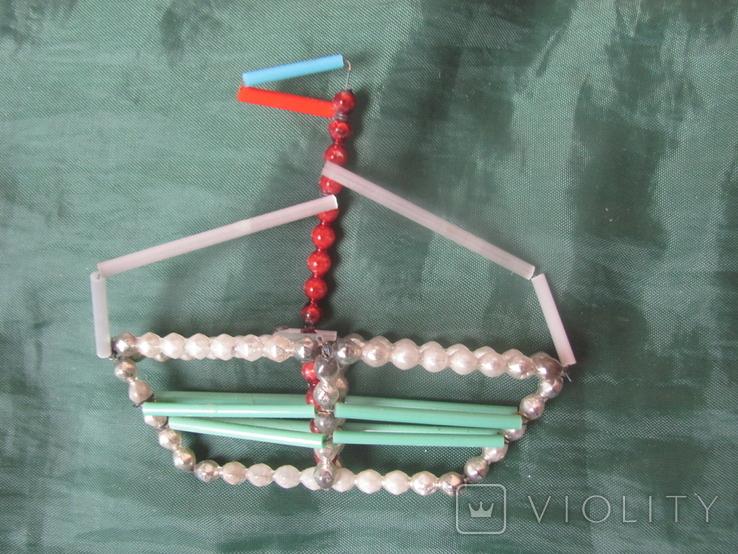 Ёлочная игрушка Кораблик, фото №2
