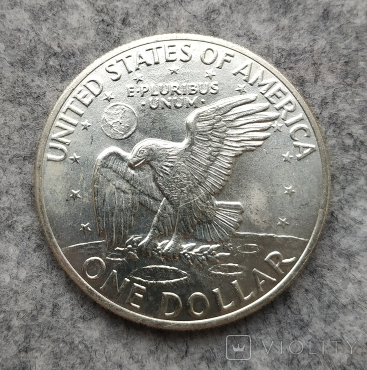 США 1 доллар 1971 S серебро, фото №3