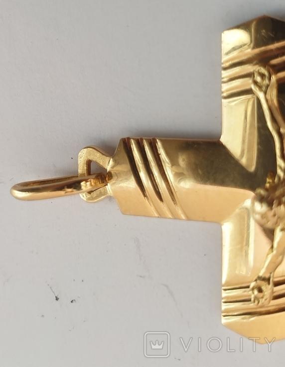Крест, золото 750*, Италия, фото №3