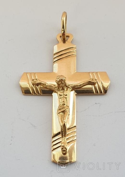 Крест, золото 750*, Италия, фото №2