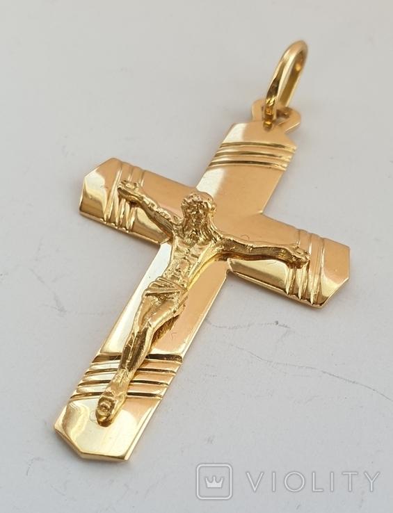 Крест, золото 750*, Италия, фото №6