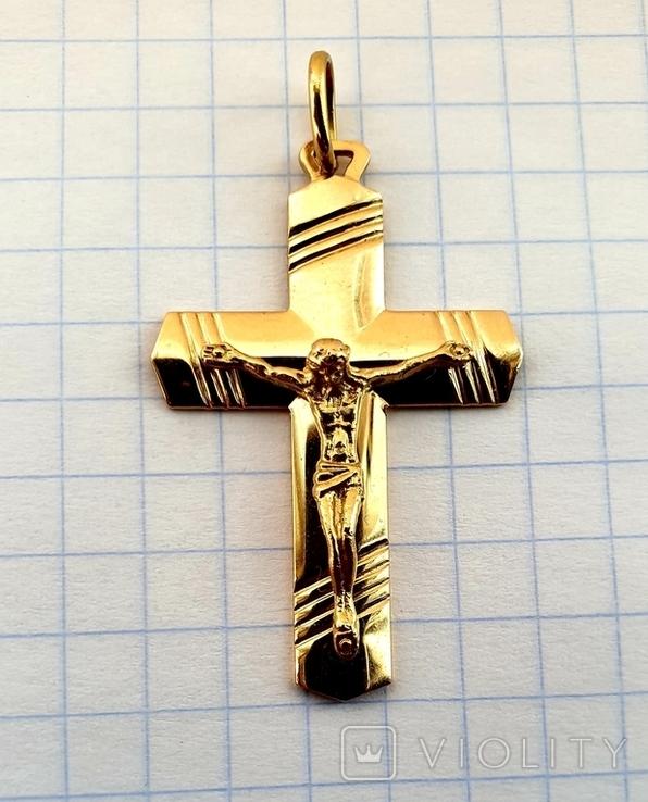 Крест, золото 750*, Италия, фото №10