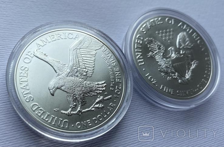 Доллар США 2021 новый и старый дизайн Американский орёл Шагающая свобода, фото №3